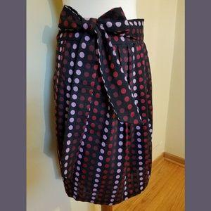 Polka Dot Pleated Bubble Skirt